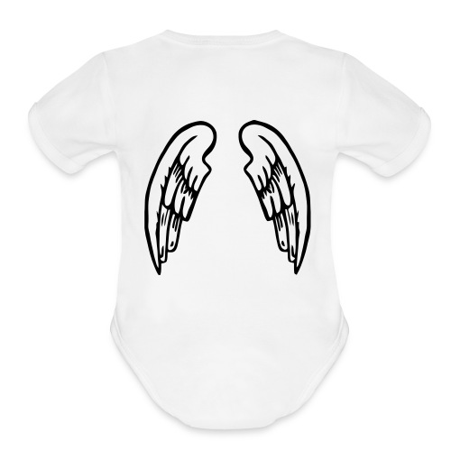 FRONT AND BACK DESIGN  - Organic Short Sleeve Baby Bodysuit