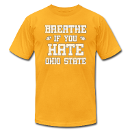T-Shirts ~ Men's T-Shirt by American Apparel ~ Breathe If You Severely Dislike That One Place