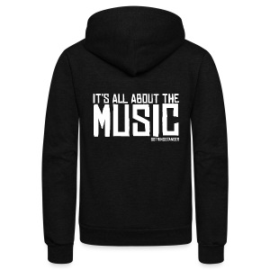 It's All About The Music Zip Hoodie - Unisex Fleece Zip Hoodie