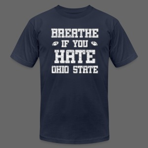 Breathe If You Severely Dislike That One Place - Men's T-Shirt by American Apparel