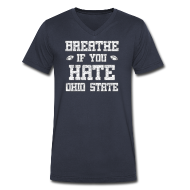 T-Shirts ~ Men's V-Neck T-Shirt by Canvas ~ Breathe If You Severely Dislike That One Place