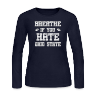 Long Sleeve Shirts ~ Women's Long Sleeve Jersey T-Shirt ~ Breathe If You Severely Dislike That One Place