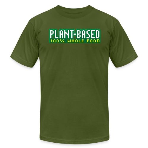 PLANT-BASED 100% Whole Food - Men's Fine Jersey T-Shirt