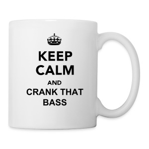 Keep Calm And Crank That Bass Mug (Black) - Coffee/Tea Mug