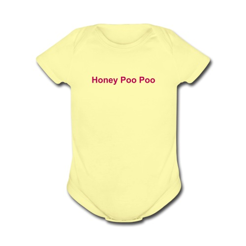 Honey Poo Poo - Organic Short Sleeve Baby Bodysuit