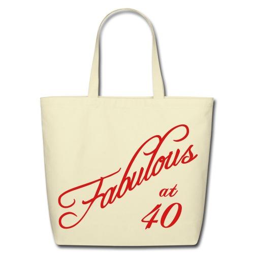 Fabulous at 40 Tote Bag - Eco-Friendly Cotton Tote