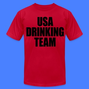 USA Drinking Team T-Shirts - stayflyclothing.com - Men's T-Shirt by American Apparel