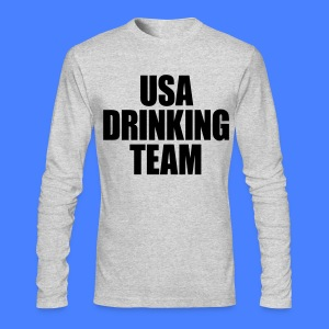 USA Drinking Team Long Sleeve Shirts - Men's Long Sleeve T-Shirt by Next Level