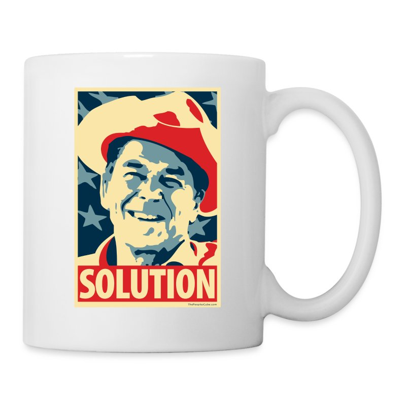 Reagan: Solution - Obama Poster Parody - Coffee/Tea Mug