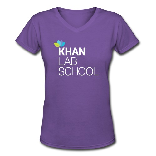 Women's Purple V-Neck T-Shirt - Women's V-Neck T-Shirt
