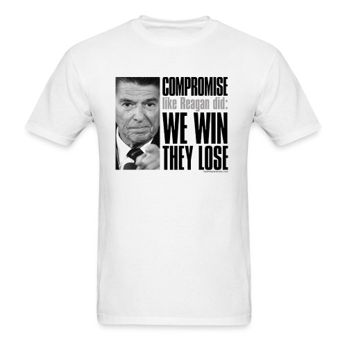 Reagan on Compromise - Men's T-Shirt