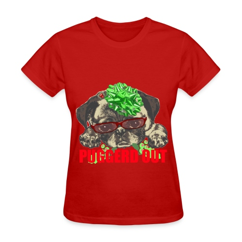Puggerd out pug pup - Women's T-Shirt
