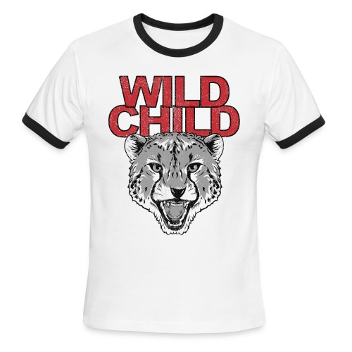 WILD CHILD Vintage mens tee - Men's Ringer T-Shirt