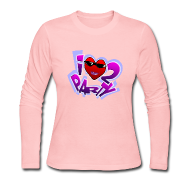 Long Sleeve Shirts ~ Women's Long Sleeve Jersey T-Shirt ~ I Love To Party. TM  Ladies long sleeve shirt