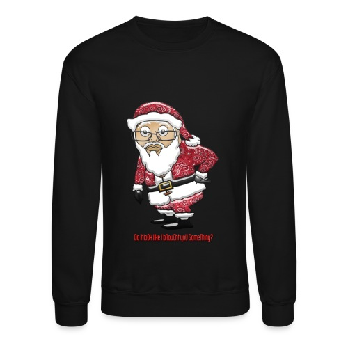 Mocking Santa Women's Sweatshirt (Red Special Edition) - Crewneck Sweatshirt