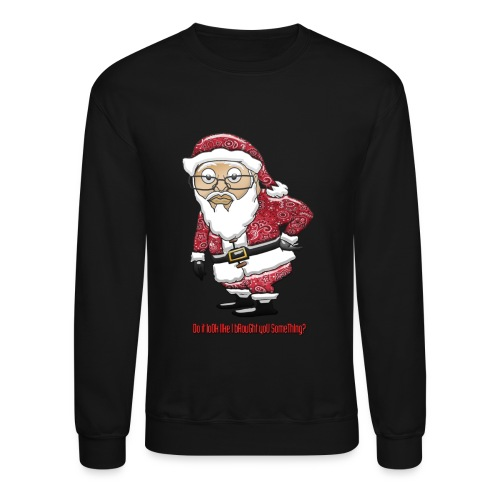 Mocking Santa Men's Sweatshirt (Red Special Edition) - Crewneck Sweatshirt