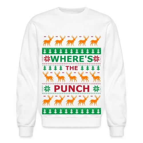 WHERESTHEPUNCH UGLY CHRISTMAS SWEATER - Crewneck Sweatshirt