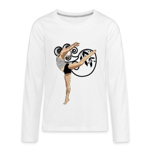 Dance_Gymnastics (ADD CUSTOM TEXT) - Kids' Premium Long Sleeve T-Shirt