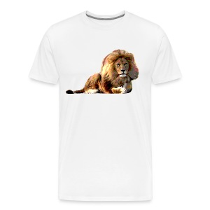 Lion (ADD CUSTOM TEXT) - Men's Premium T-Shirt