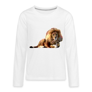 Lion (ADD CUSTOM TEXT) - Kids' Premium Long Sleeve T-Shirt