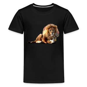 Lion (ADD CUSTOM TEXT) - Kids' Premium T-Shirt