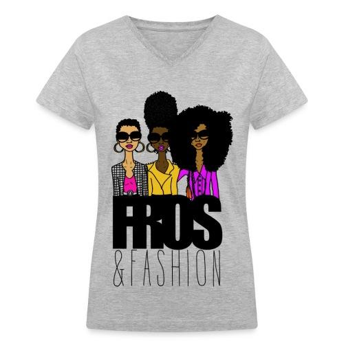 Fros & Fashion - Women's V-Neck T-Shirt