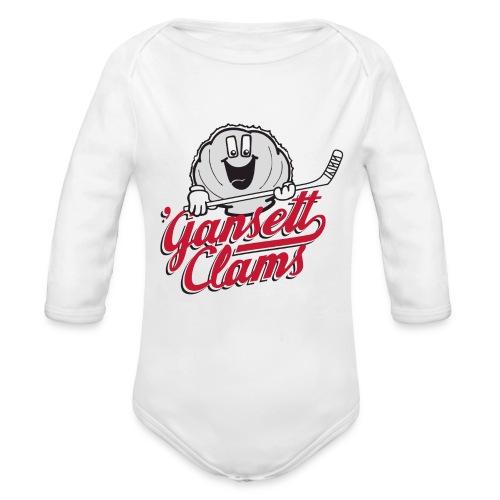 CLAMS Baby   - Organic Long Sleeve Baby Bodysuit