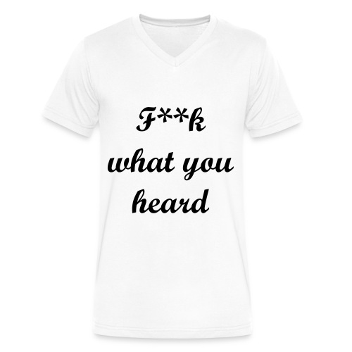 F.A.R. FWYH Tee (White) - Men's V-Neck T-Shirt by Canvas