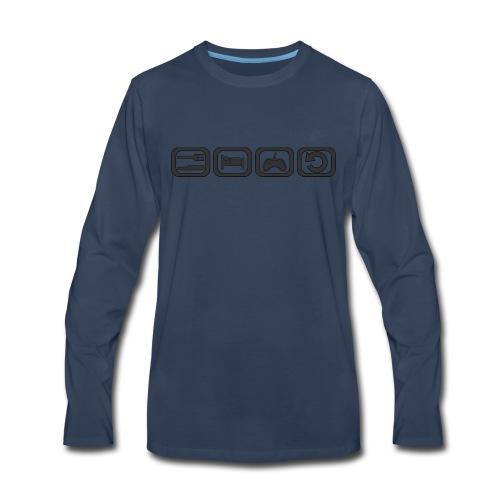 Eat. Sleep. Game. Repeat. - Men's Premium Long Sleeve T-Shirt