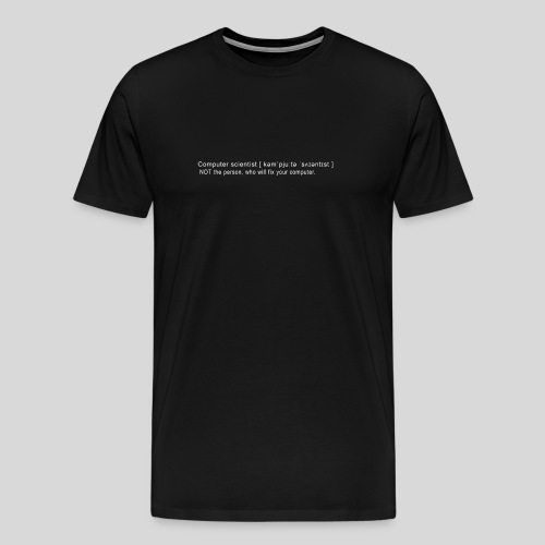 Computer scientist - Men's Premium T-Shirt