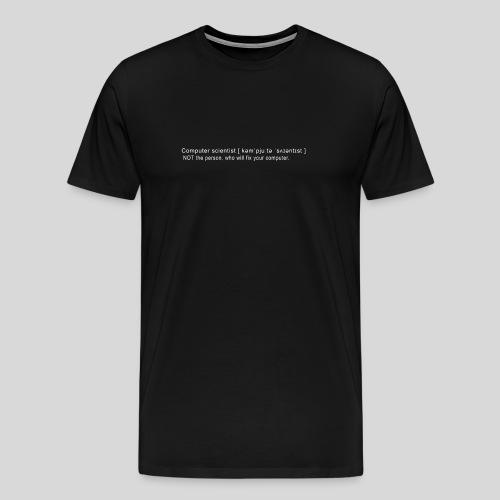 Computer scientist - Men's Premium T-Shirt