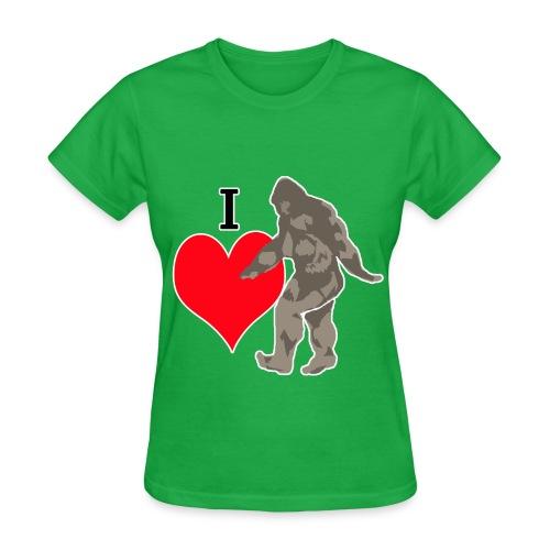 I love Bigfoot 2 - Women's T-Shirt