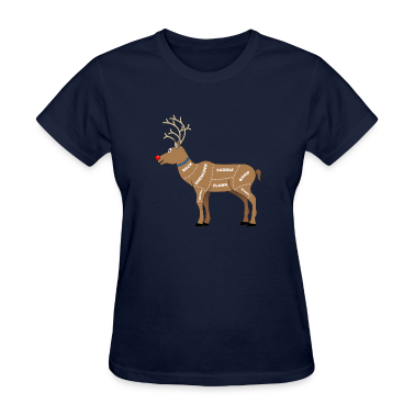 Reindeer Meat For Christmas Women's T-Shirts