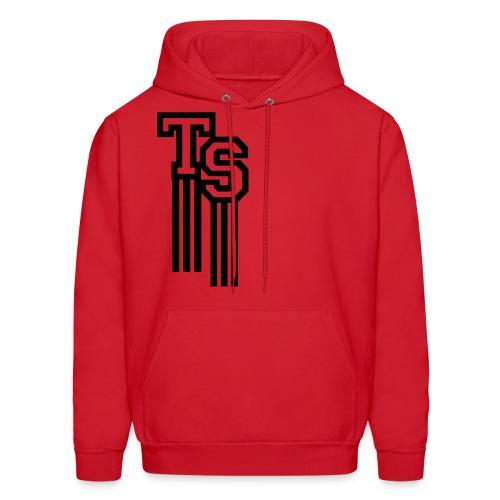 Red/Black Premium Hoodie (Pullover)(TreStylez) - Men's Hoodie