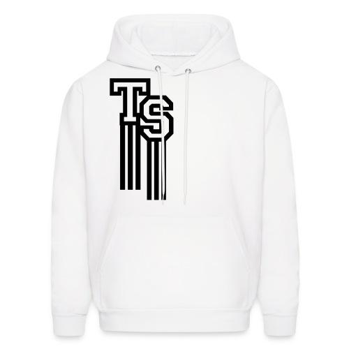 White/Back Premium Hoodie (Pullover)(TreStylez) - Men's Hoodie