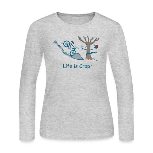 Mtn Bike Tree - Womens Long Sleve T-shirt - Women's Long Sleeve Jersey T-Shirt
