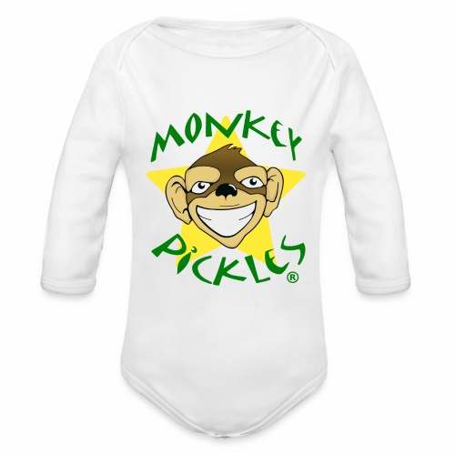 Monkey Pickles Long Sleeve Baby Bodysuit - Organic Long Sleeve Baby Bodysuit