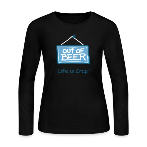 Out of Beer Sign - Womens Long Sleeve T-shirt - Women's Long Sleeve Jersey T-Shirt