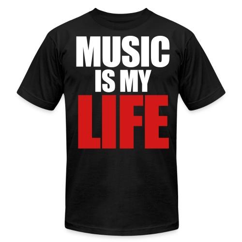 Music is my Life - Men's  Jersey T-Shirt