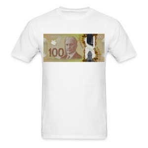 100 Canadian Dollar Bill - Men's T-Shirt