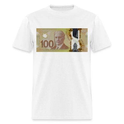 100 Canadian Dollar Bill - Men's T-Shirt