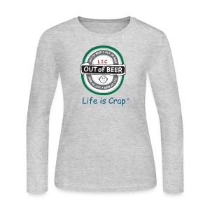 Out of Beer Label - Womens Long Sleeve T-shirt - Women's Long Sleeve Jersey T-Shirt