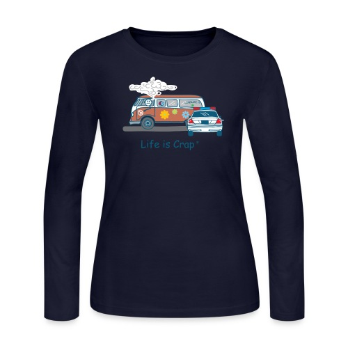 Smoking Van - Womens (Busted) - Women's Long Sleeve Jersey T-Shirt