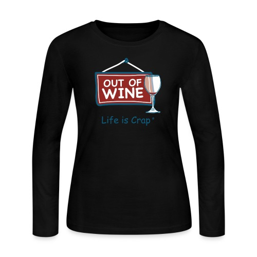 Out of Wine - Womens (Wine) - Women's Long Sleeve Jersey T-Shirt