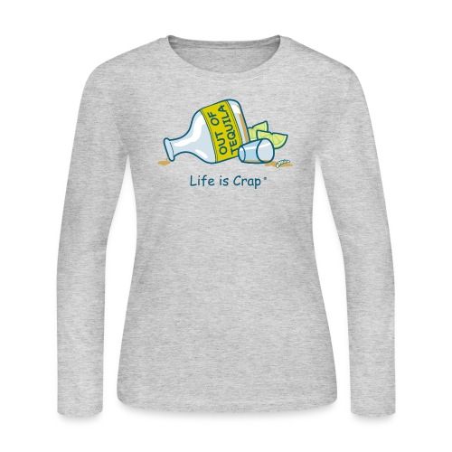 Out of Tequila - Womens (Booze) - Women's Long Sleeve Jersey T-Shirt