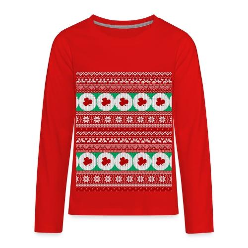 matelatte ugly sweater - Kids' Premium Long Sleeve T-Shirt