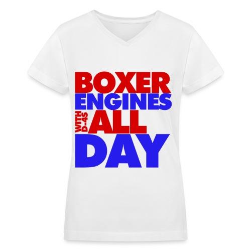 Boxer All Day Women - Women's V-Neck T-Shirt