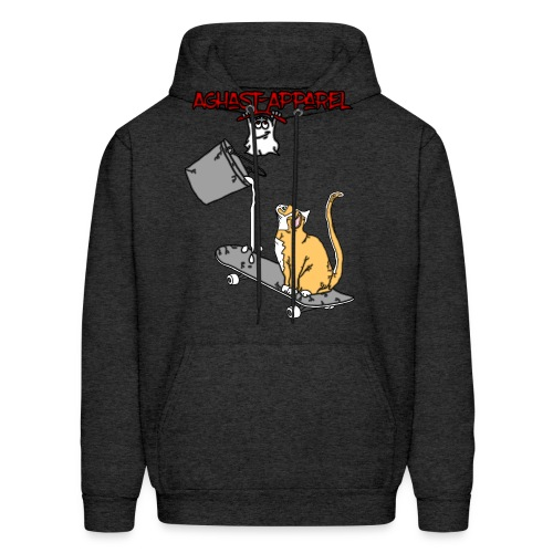 Skate-Cat by: Aghast-Apparel (Any Color) - Men's Hoodie
