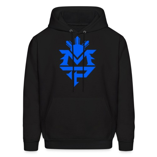 Hooded Sweatshirt (black and blue) - Men's Hoodie