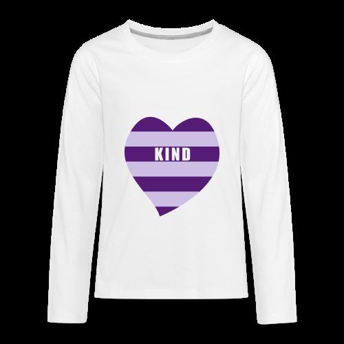 Kind in Heart - Kids' Premium Long Sleeve T-Shirt